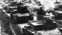 Polské tanky 7TP během cvičení