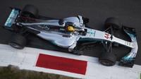 Lewis Hamilton při tréninku v Itálii