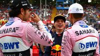 Sergio Pérez, Max Verstappen a Esteban Ocon v Itálii