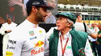 Daniel Ricciardo a Jackie Stewart v Itálii