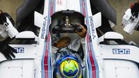 Felipe Massa při tréninku v Itálii