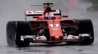 Sebastian Vettel za deštivé kvalifikace v Itálii