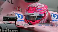 Esteban Ocon za deštivé kvalifikace v Itálii