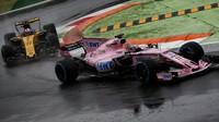 Sergio Pérez a Nico Hülkenberg za deštivé kvalifikace v Itálii