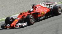 Sebastian Vettel v průběhu Velké ceny Itálie