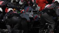 Romain Grosjean v závodě v Itálii