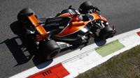 Fernado Alonso během Velké ceny Itálie
