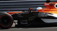 Fernado Alonso v závodě v Itálii
