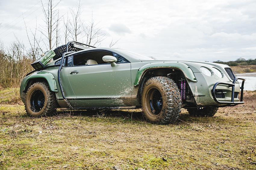 Upravený Bentley Continental GT se může z fleku vydat i na Rally Dakar