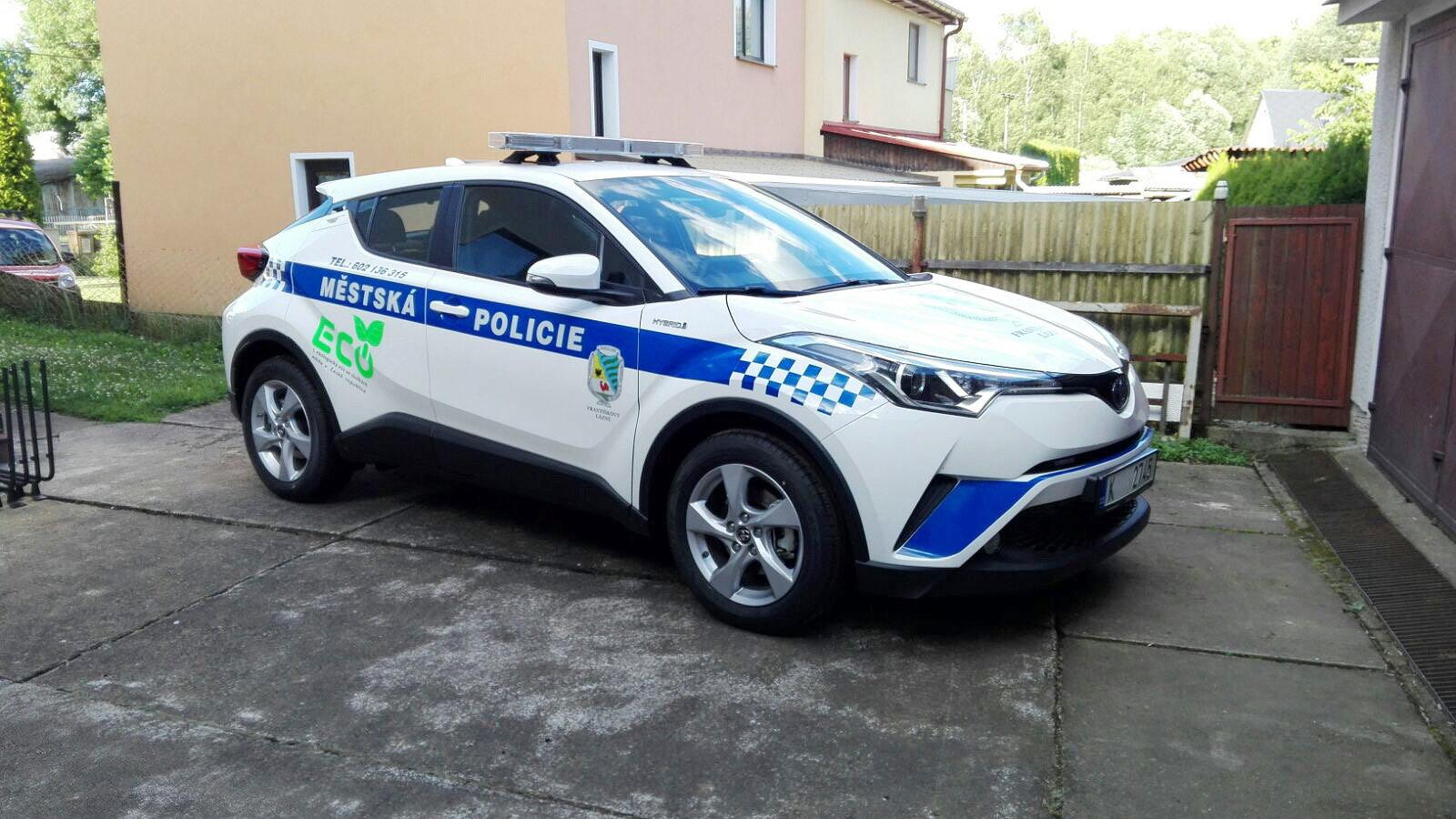 Toyota C-HR ve službách Městské policie Františkovy Lázně