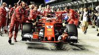Sebastian Vettel před závodem v Singapuru