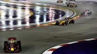 Daniel Ricciardo po restartu závodu v Singapuru