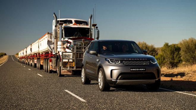 Land Rover Discovery se bez problémů popral i se 110 tunovým nákladem
