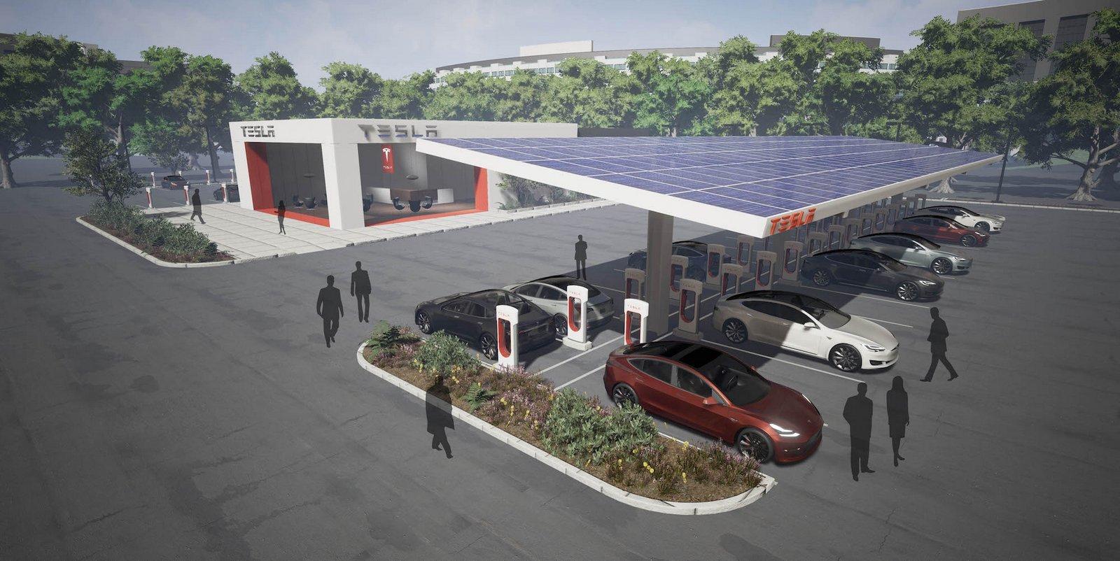 Dobíjecí stanice Tesla