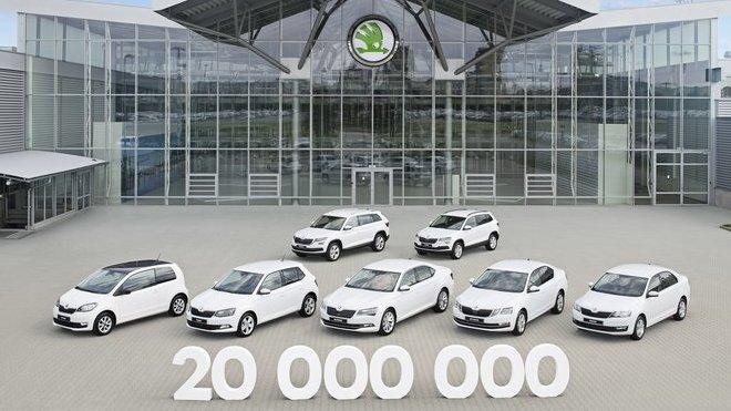Automobilka Škoda Auto oslavuje významné jubileum, na kontě už má 20 000 000 vyrobených automobilů