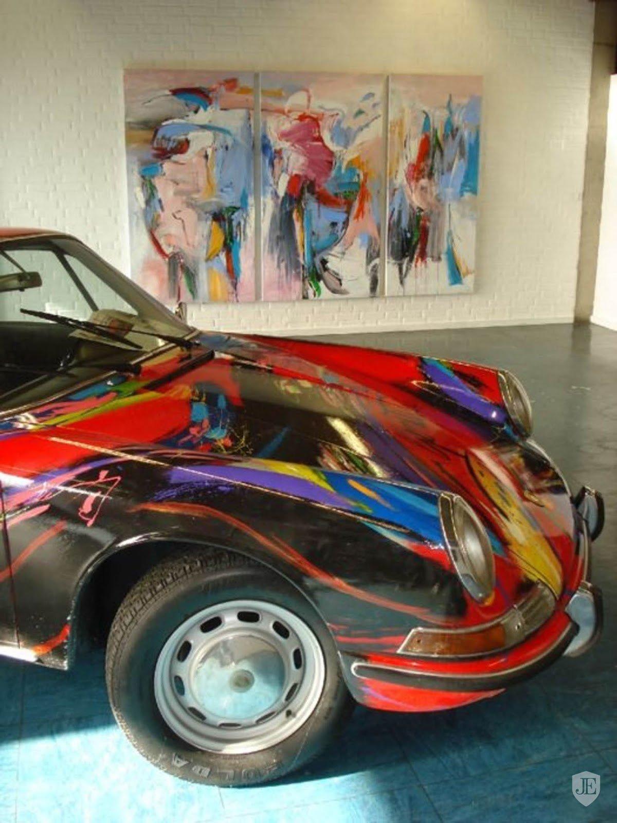 """Porsche 911 """"Art Car"""", za jehož úpravou stojí Gerriet Postma"""