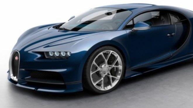 Bugatti Chiron vystavená na Mobile.de