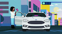 Ford and Lyft autonomous car
