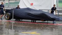 Tým Sauber se chystá na deštivý trénink v Malajsii