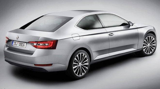 Škoda Superb kupé vypadá jako velice zajímavý grafický koncept