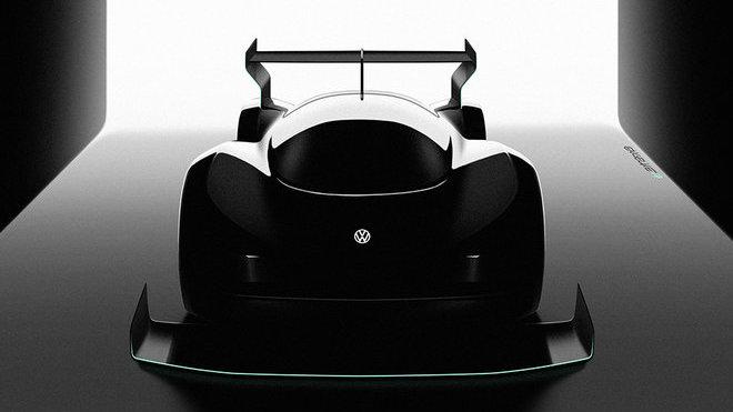 Koncept elektrického závodního vozu, který připravuje Volkswagen pro závod Pikes Peak