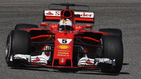 Sebastian Vettel v závodě v Austinu