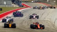 Fernando Alonso s McLarenem ve Velké ceně Spojených států