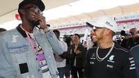 Usain Bolt a Lewis Hamilton v Austinu