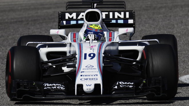 Felipe Massa s Williamsem na Okruhu Amerik