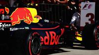 Max Verstappen po dojezdu závodu v Austinu
