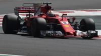 Sebastian Vettel s Ferrari SF70H v Mexiku