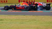 Max Verstappen v závodě v Mexiku
