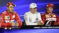 Tři nejlepší jezdci po kvalifikaci na tiskovce v Brazílii