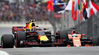 Max Verstappen a Fernando Alonso v kvalifikaci v Brazílii