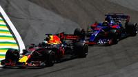 Daniel Ricciardo a Brendon Hartley v závodě v  Brazílii