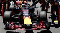 Daniel Ricciardo před závodem v Brazílii