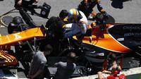 Fernando Alonso před závodem v Brazílii