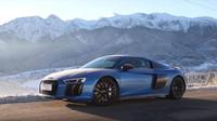 Supersportem do zasněžených Tater? Audi R8 V10 Plus se zimy nebojí - anotační foto