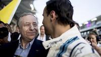 Felipe Massa a Franz Tost v Abú Zabí