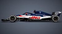 Grafický návrh vozu Haas - Maserati