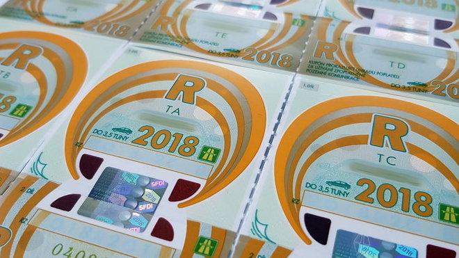 Dálniční známka 2018