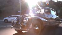 Tatra 87 dostává v LA pořádně zabrat, její vzduchem chlazený osmiválec vyžaduje svižnější jízdu