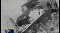 Záběry zasněžených československých silnic v zimě roku 1969