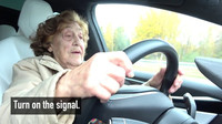92 year-old Roosi gets to drive a Tesla Model X: