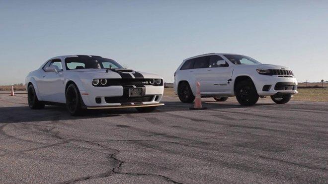 Jeep Cherokee Trackhawk vs Dodge Challenger Hellcat Widebody