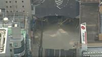 K jednomu z největších propadů silnice za poslední dobu došlo v Japonsku
