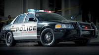 Typické americké policejní vozy Ford Crown Victoria