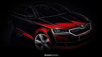 Nová Škoda Fabia na prvním náčrtu