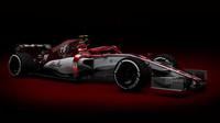 Neoficiální grafický návrh nového vozu stáje Alfa Romeo Sauber F1