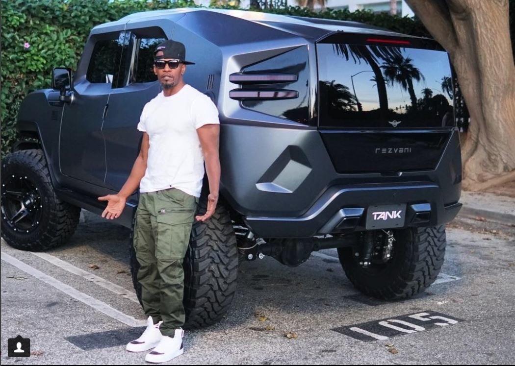Jamie Foxx se svým novým SUV Rezvani Tank